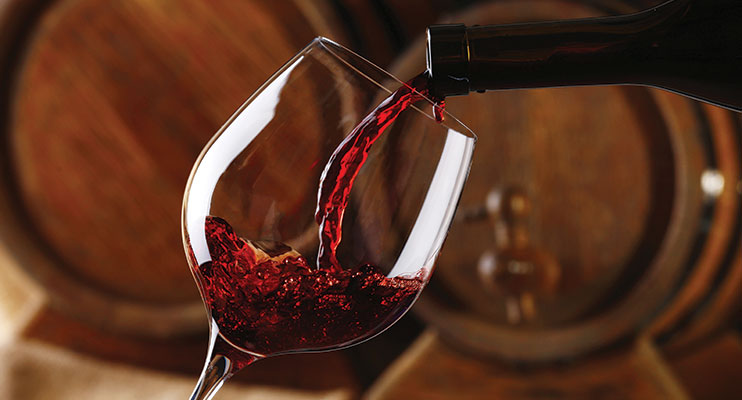 Image of wine being poured