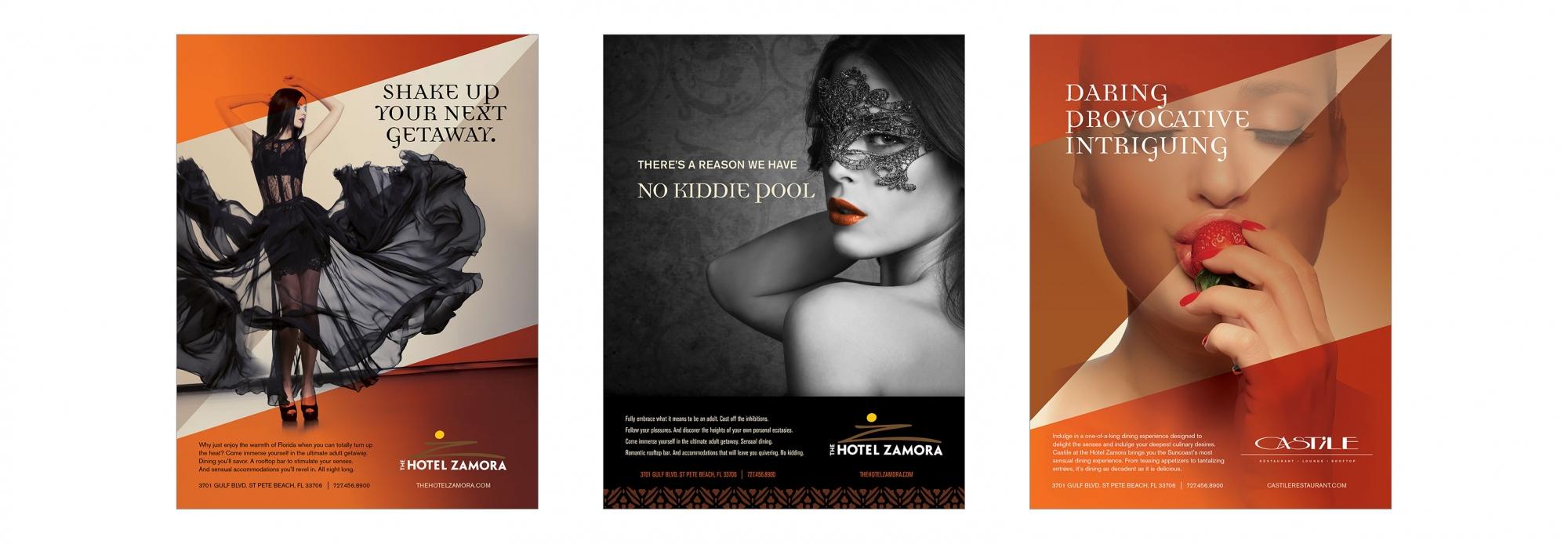 Hotel Zamora Print Ads