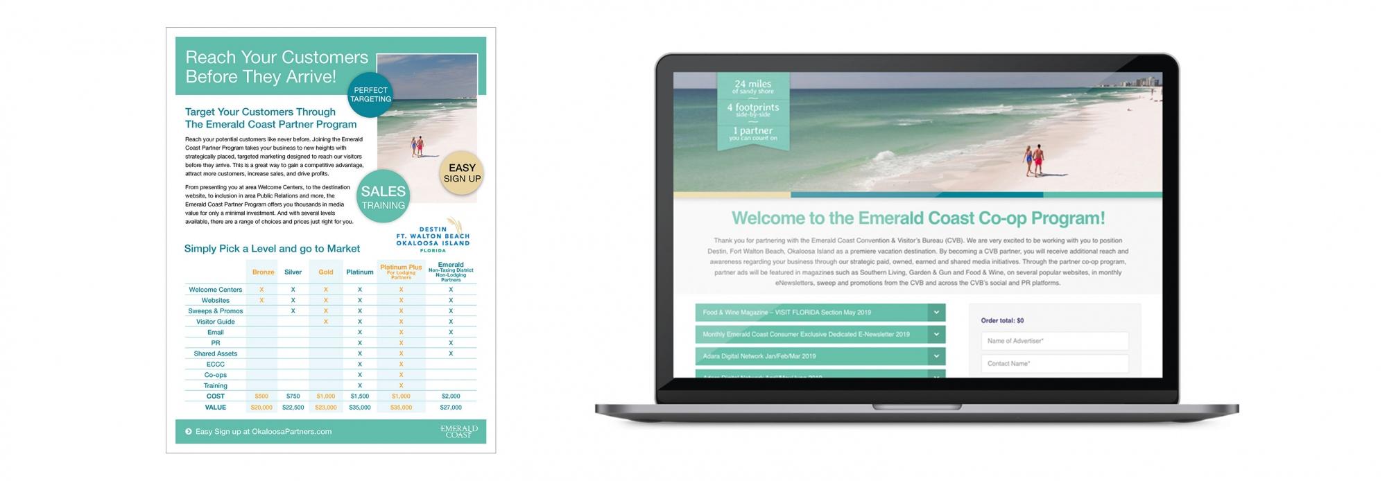 Co Op Website on a laptop