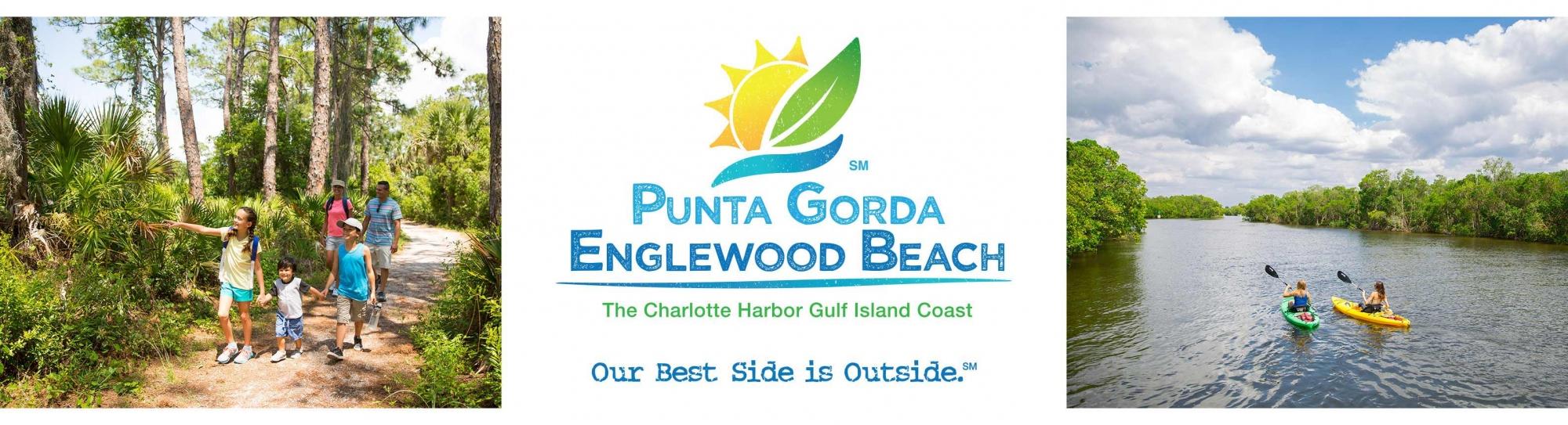 Punta Gorda hiking, kayaking and logos