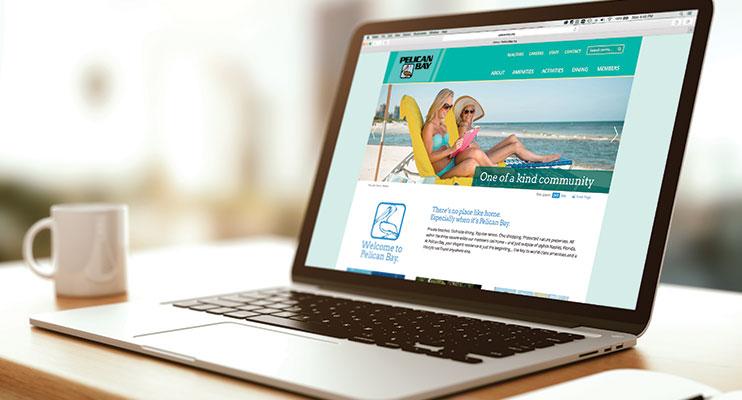 Pelican Bay Website on Laptop