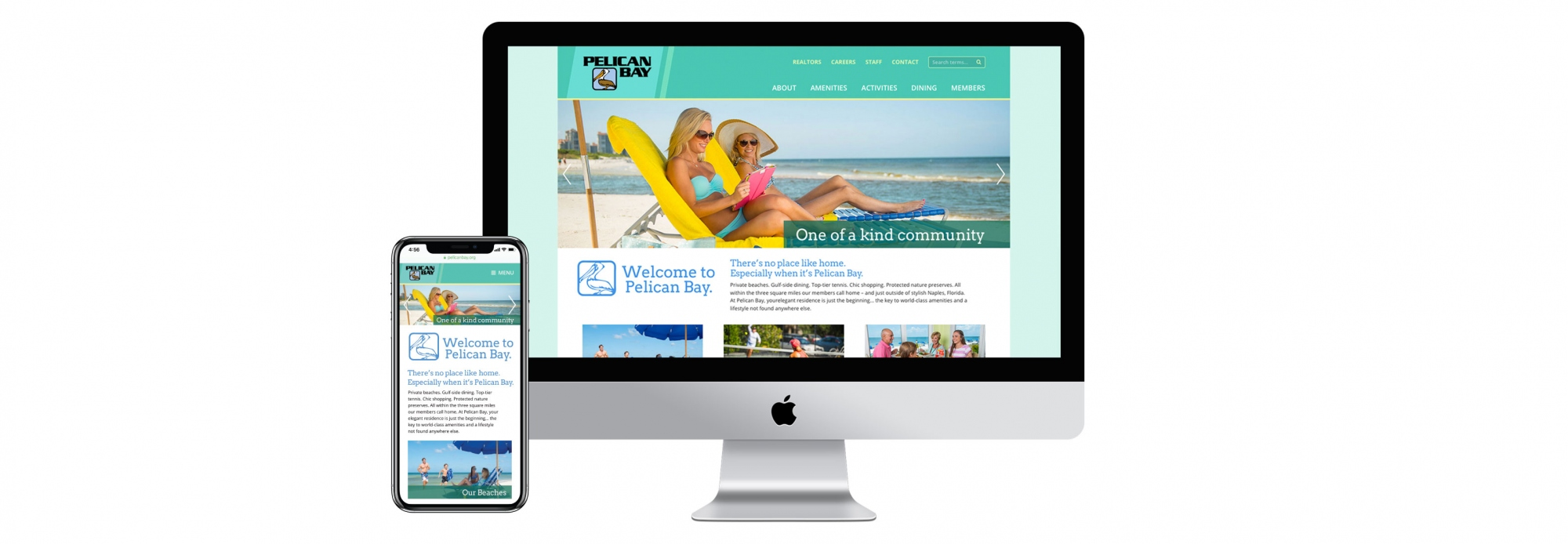 Pelican Bay Website image on desktop and mobile