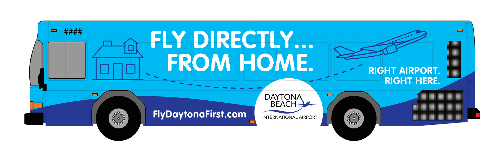 Daytona Beach International Airport Bus Wrap