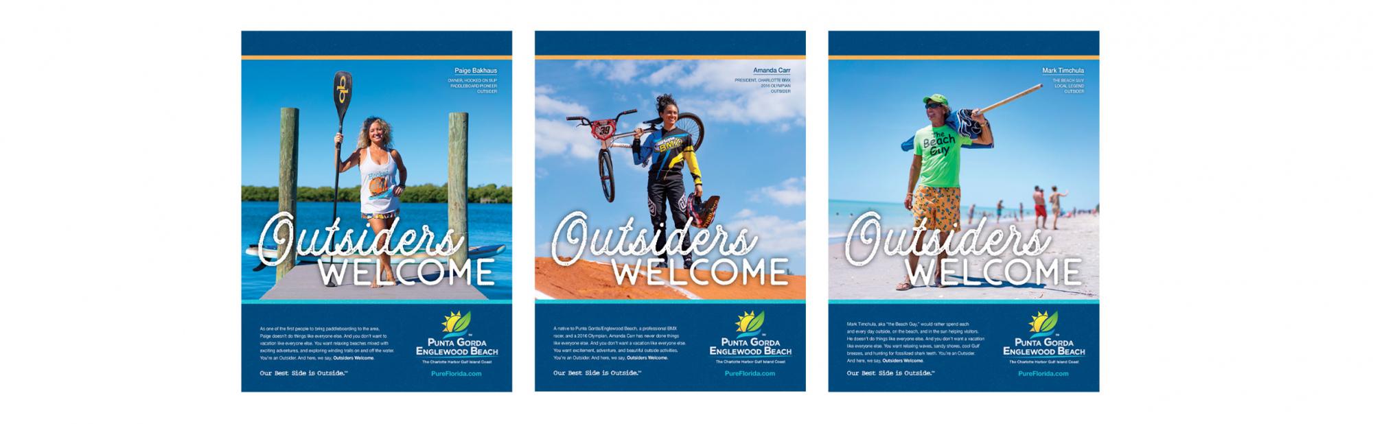 Outsiders print ads
